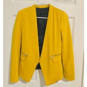 Zara Basic Blazer Mustard (US Size XS)